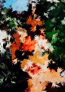 Abstract Geometric Art Colorful Desi