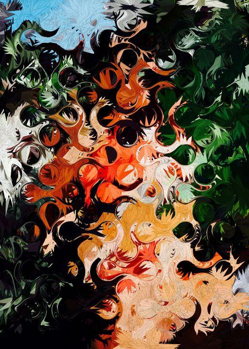 Abstract Geometric Art Colorful Desi - New0Art