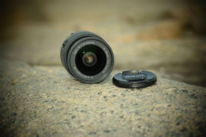 Camera lense on rock - kundan