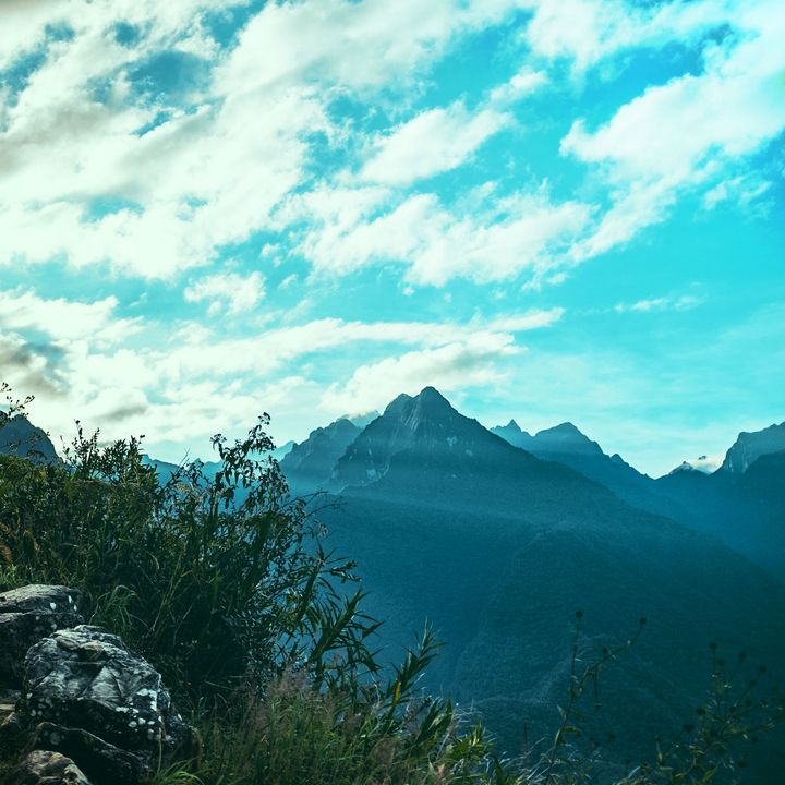 Mountains and beautiful blue sky - Creative Photography