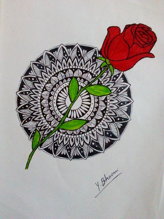 Mandala & Simple arts Combination - Bhavani