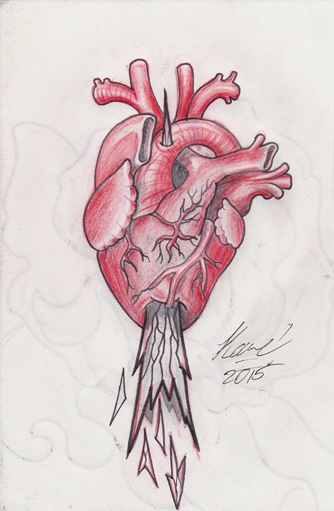 Staked Heart Sketch - Kane Broadus