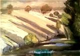 Original oil painting high pigmented