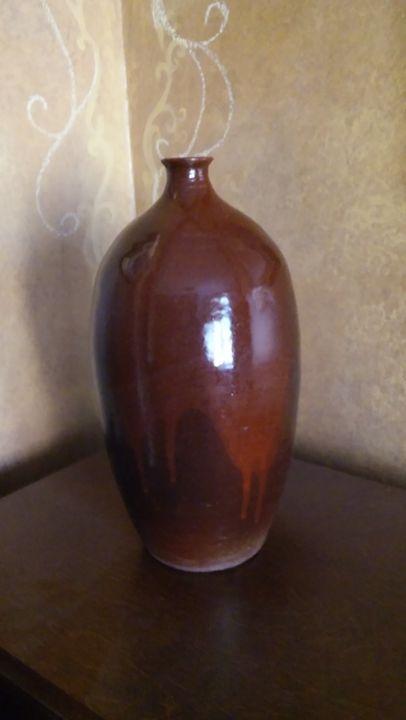 Pottery Vase, Hand Thrown, Stoneware - I throw pots