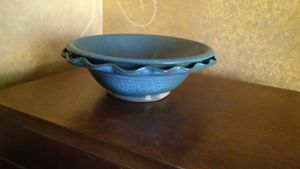 Ruffled Stoneware Bowl