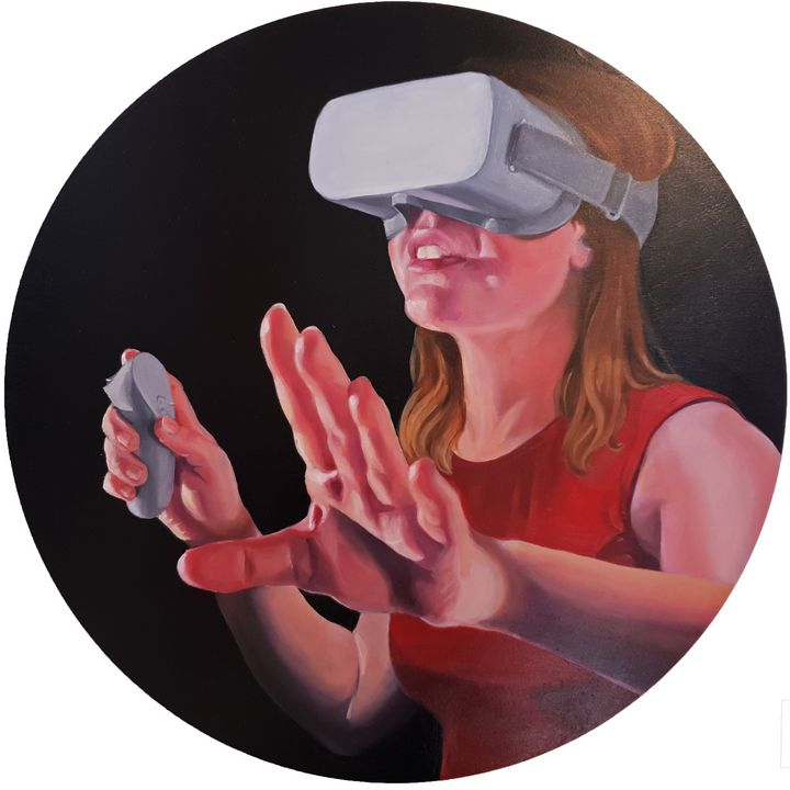 Self Portrait in VR - Rachel Wyatt