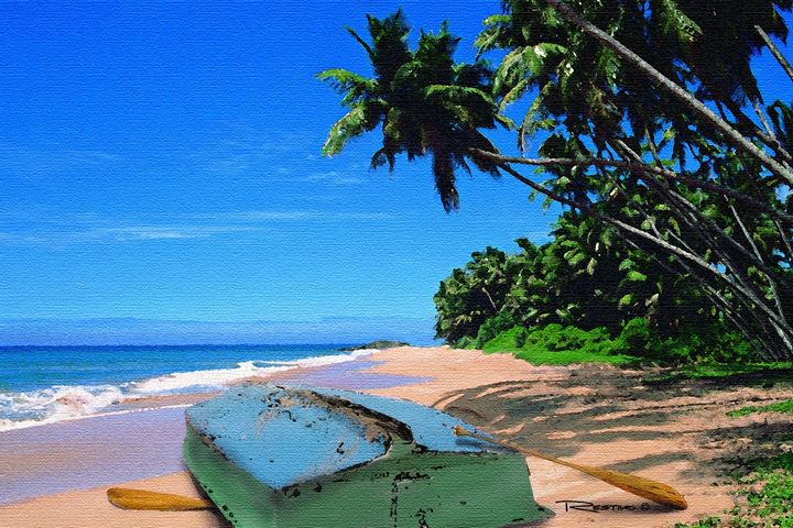 Boat On The Beach - Terry Restivo