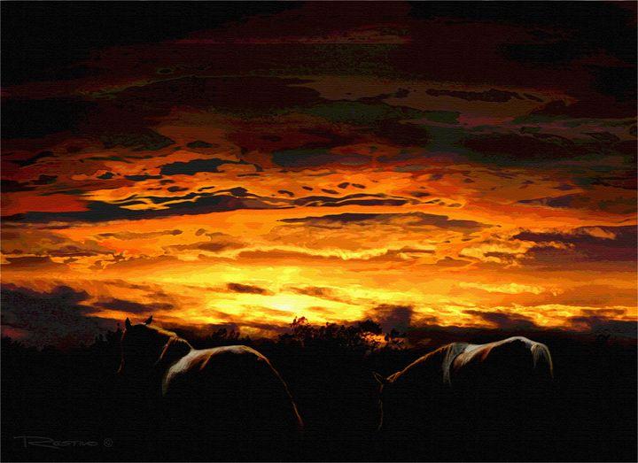 Chincoteaque Island Horses - Terry Restivo