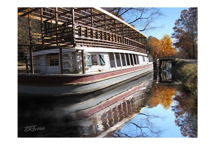 Tow Barge On The C&O Canal - Terry Restivo