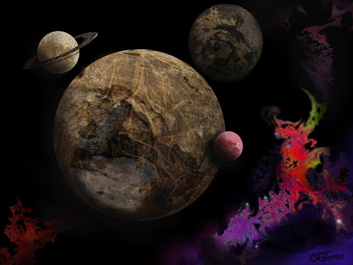 Wooden Planets - Terry Restivo