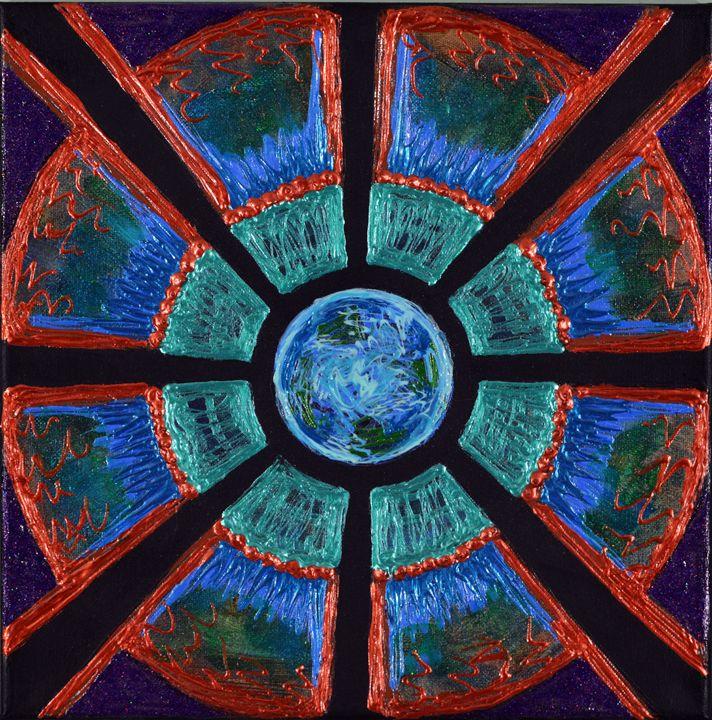 Copper Planet Mandala - Carolee