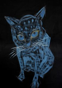 Blue cat - Andzejs paintings