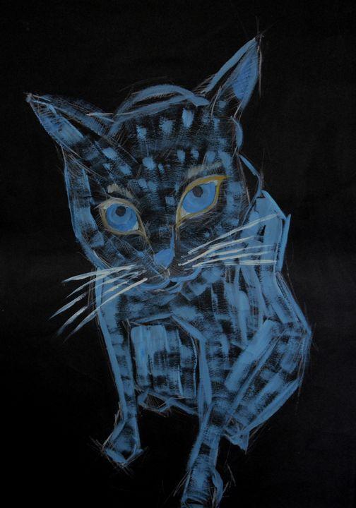 Blue cat - Andzejs paintings