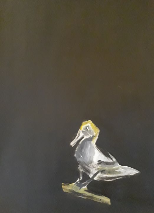 Lonely duck - Andzejs paintings