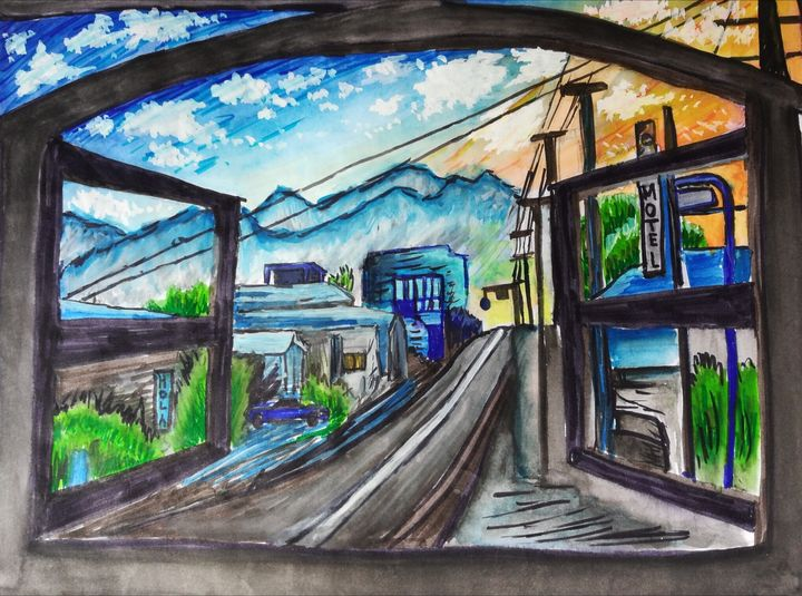 imaginary  landscape from window - piyush