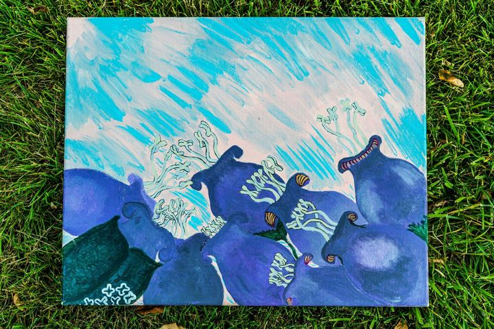 purple bell flowers - Vera