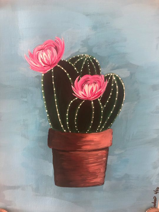 Simply Potted acrylic painting - Jessscape Art