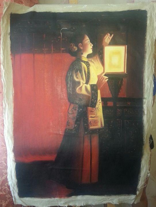 Girl with lantern - Dima Tsu