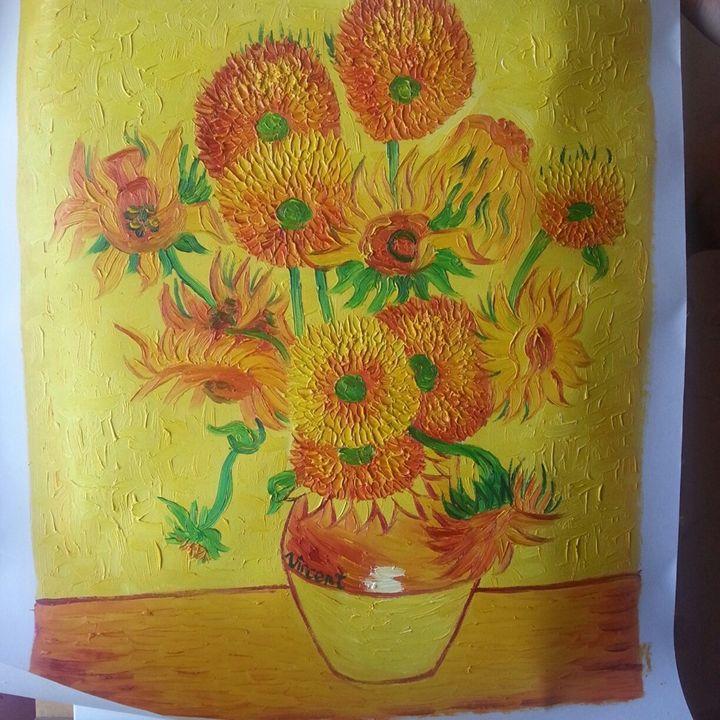 sunflowers van gogh reproduction - Dima Tsu