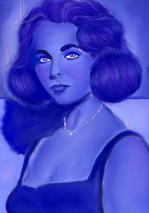 Liz In Blue - Indigo Sky Gallery