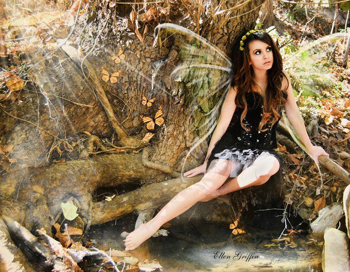 Butterfly Fairy - Ellen Griffin Fantasy Art