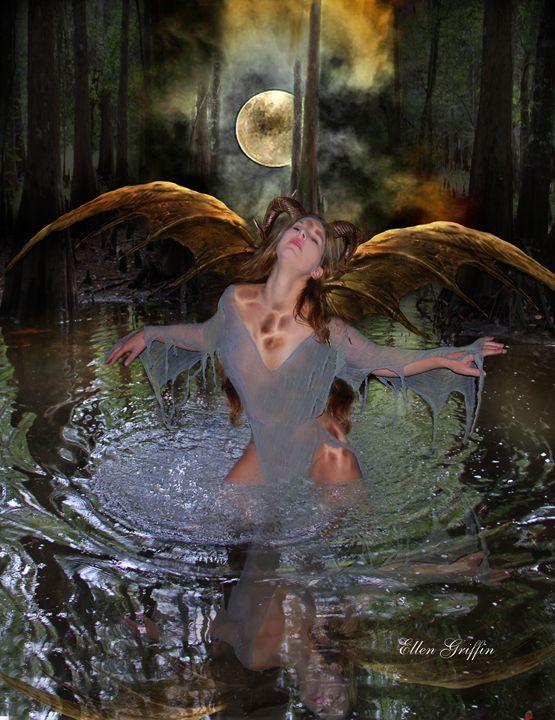Horned Demon - Ellen Griffin Fantasy Art