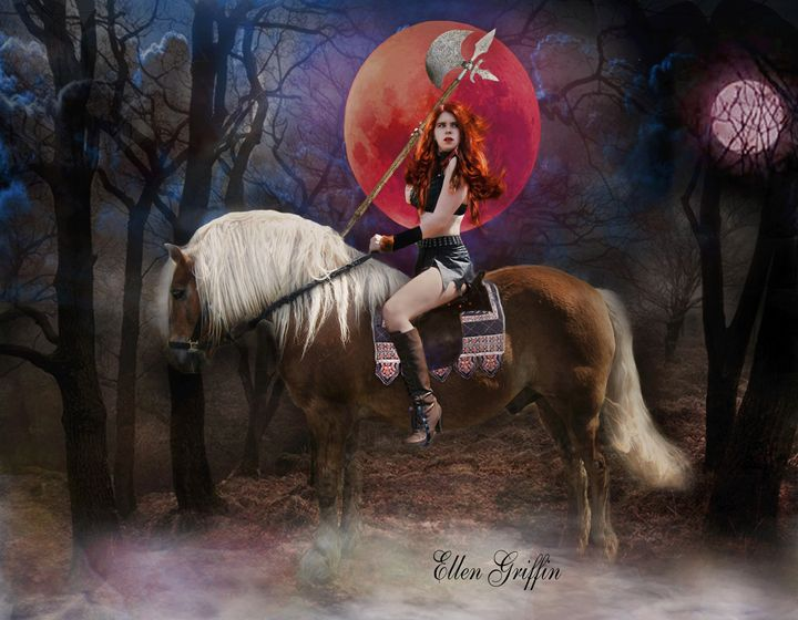 Blood Moon - Ellen Griffin Fantasy Art