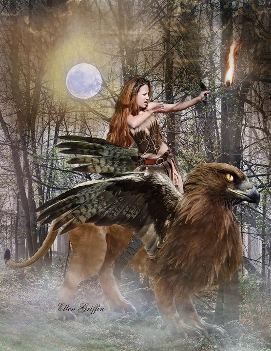 Gryphon - Ellen Griffin Fantasy Art