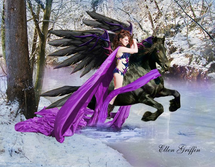 Winged Warrior - Ellen Griffin Fantasy Art