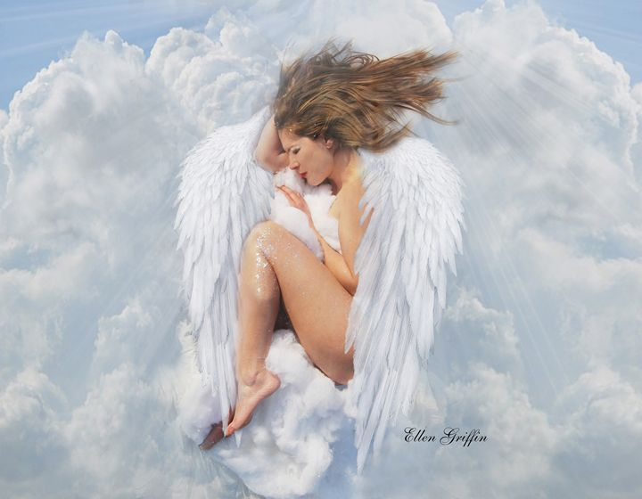 Sleeping Angel - Ellen Griffin Fantasy Art