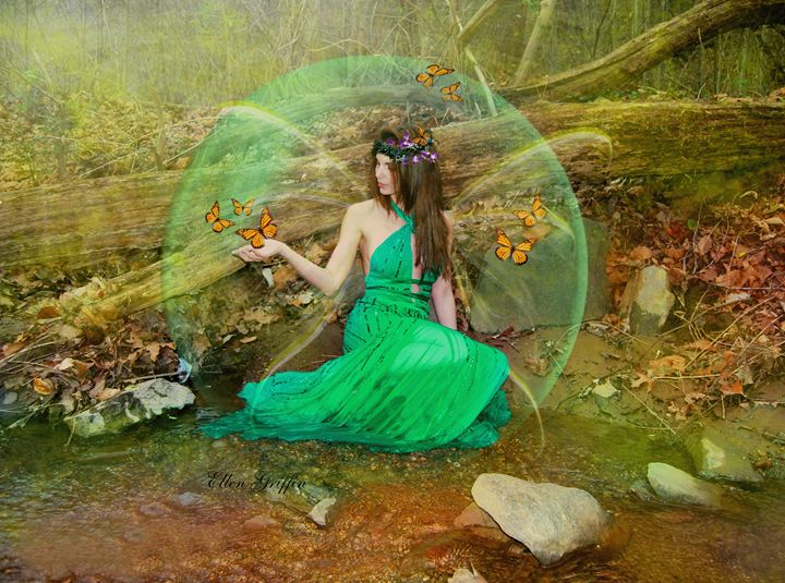 Bubble Butterfly Fairy - Ellen Griffin Fantasy Art