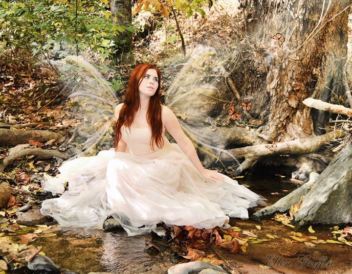 Woodland Butterfly Fairy - Ellen Griffin Fantasy Art