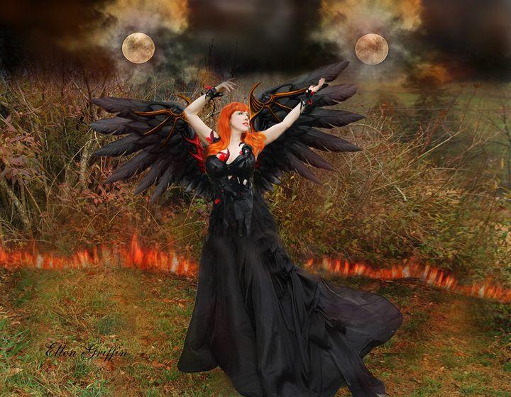 Fire Moons - Ellen Griffin Fantasy Art