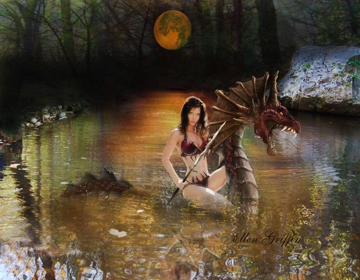 Dragon Rider - Ellen Griffin Fantasy Art