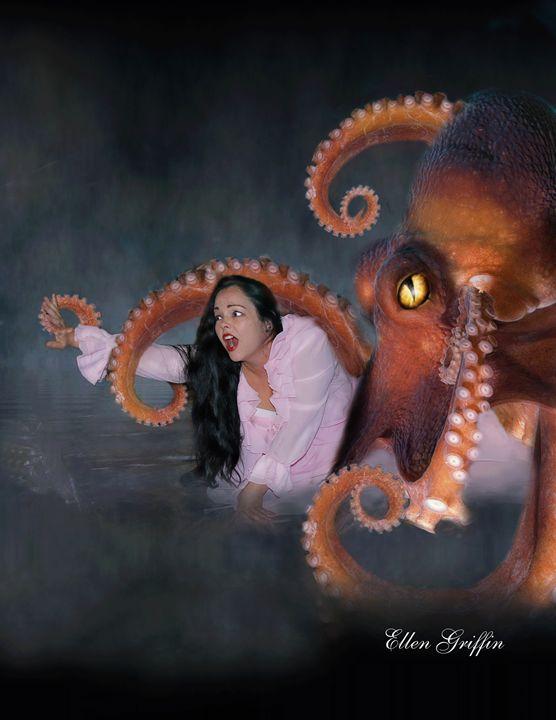 Killer Squid - Ellen Griffin Fantasy Art