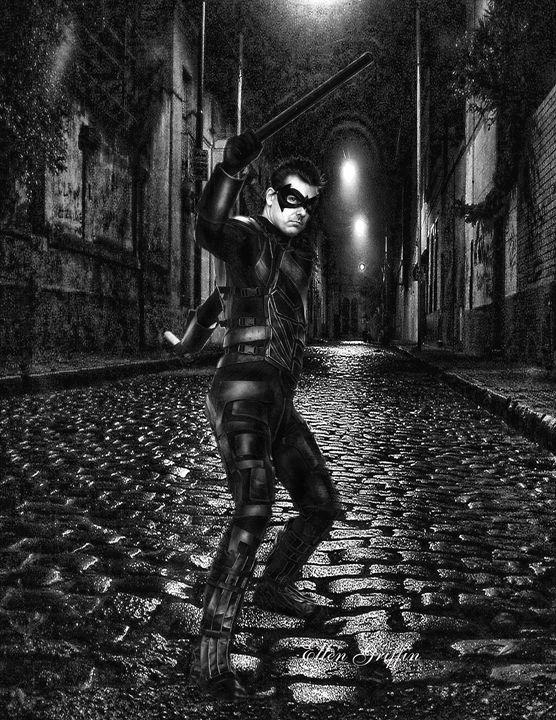 Black N White Comic Style - Ellen Griffin Fantasy Art