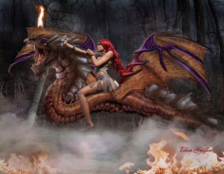 Dragon Queen - Ellen Griffin Fantasy Art