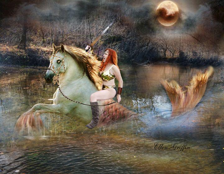Seahorse - Ellen Griffin Fantasy Art