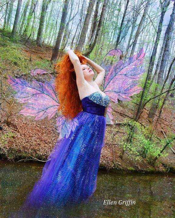Woodland Water Fairy - Ellen Griffin Fantasy Art