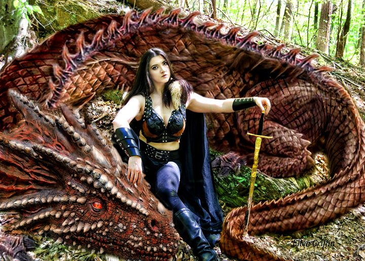 The Pet Dragon - Ellen Griffin Fantasy Art