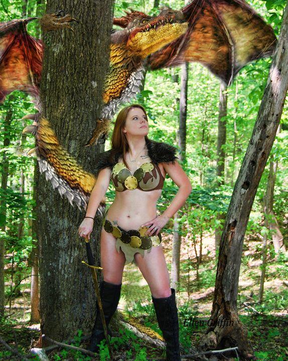 Woods Dragon - Ellen Griffin Fantasy Art