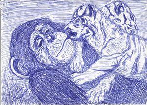 chimpanzee love
