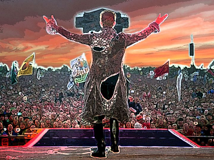 bowie live - iconic art