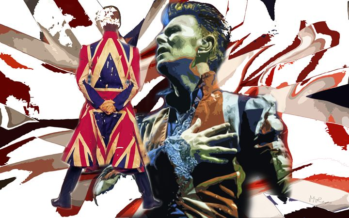 bowie england - iconic art