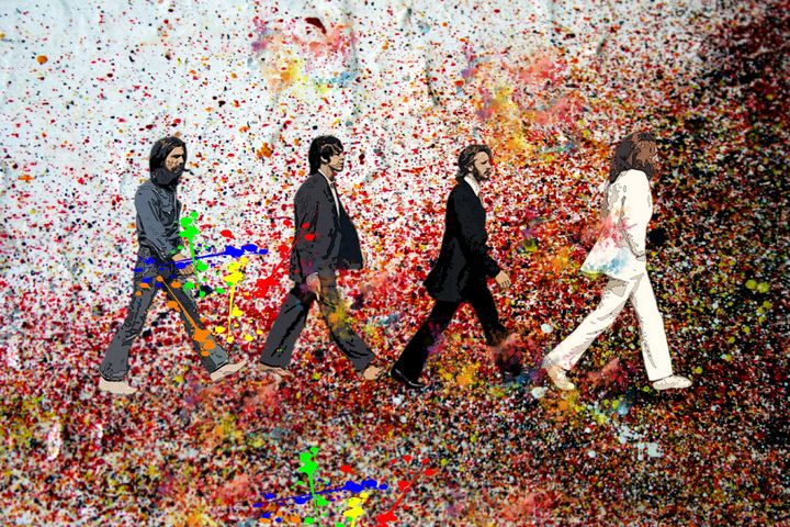 beatles pollock - iconic art