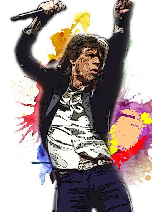 rolling jagger - iconic art