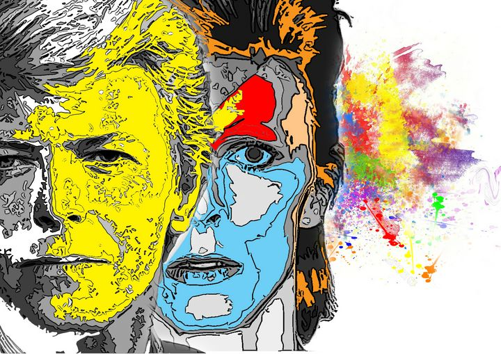 mr david bowie abstrat art - iconic art