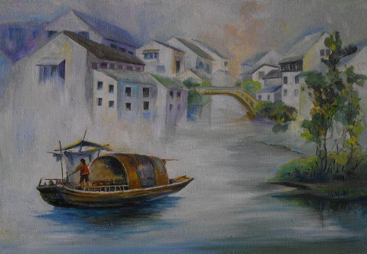 Asian Riverscape - LRB Fine Art