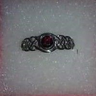 Ruby Celtic Ring