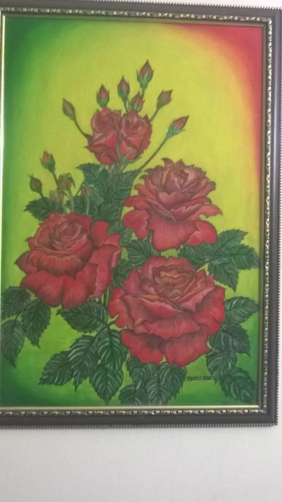 Blosoming Roses - Bindu Rajeshwar